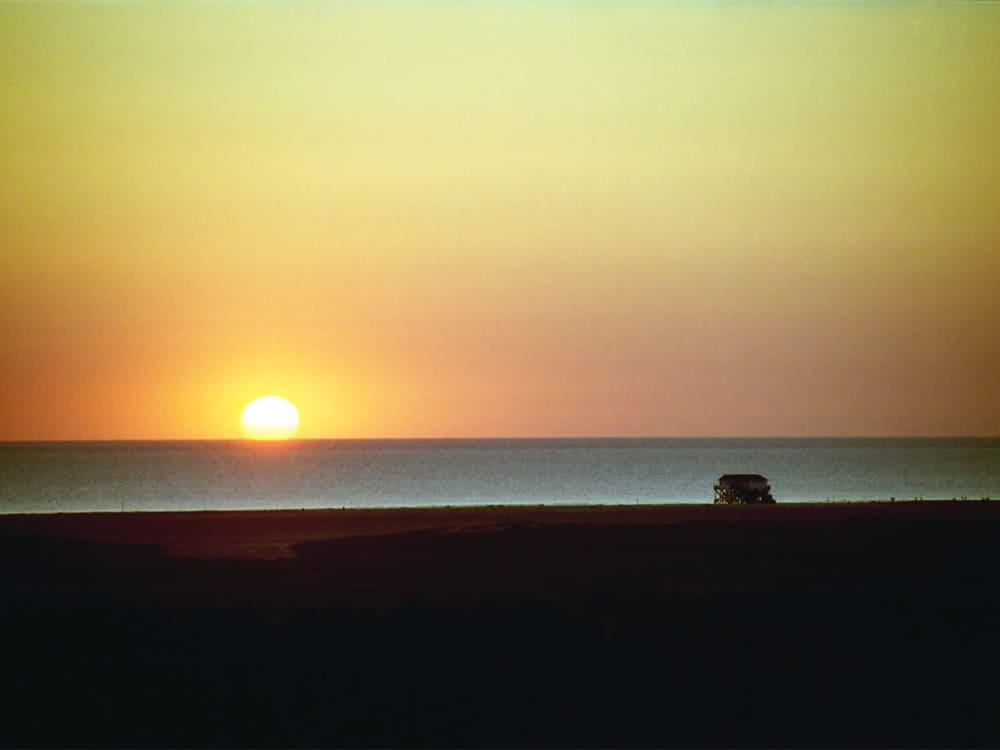 Blick vom Balkon Sonnenuntergang
